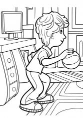 Раскраска Дим Димыч и мяч