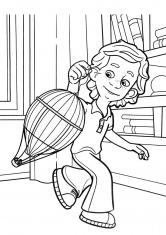 Раскраска Дим Димыч и воздушный шар