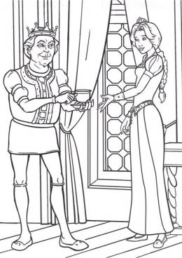 раскраска король и королева пьют чай скачать и распечатать