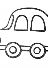 Раскраска Машина для самых маленьких