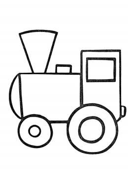 картинка раскраска поезд для детей