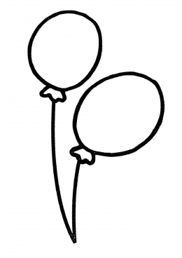 картинки шарика раскраски