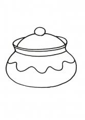 Раскраска Горшочек для меда