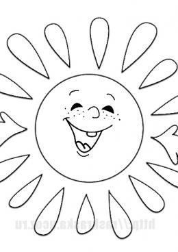 Солнышко улыбается картинка для детей