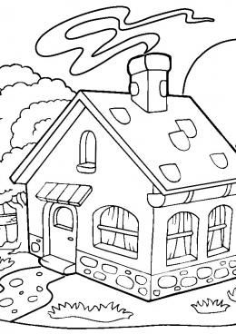 Раскраска Дача для семьи, скачать и распечатать раскраску ...
