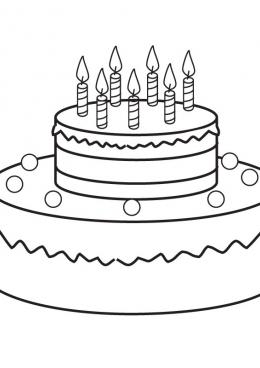 раскраски торты еда конфеты блюда пища скачать и