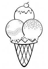 раскраски еда конфеты блюда пища скачать и распечатать
