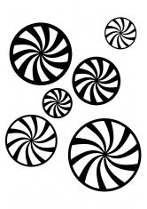 Три конфеты раскраска