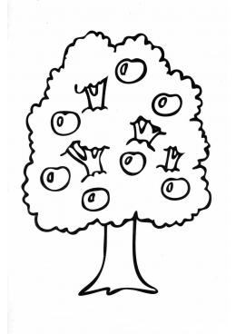 Раскраска Дерево с плодами, скачать и распечатать ...