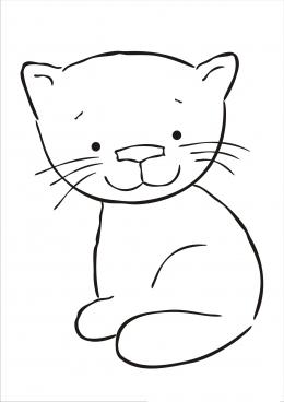 Кот шаблон раскраска
