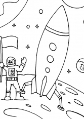 how to draw a rocket in space