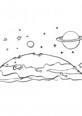 Раскраска Неизвестные планеты