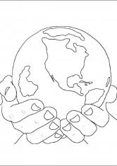 Раскраска Наша планета