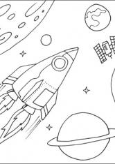 Раскраска Освоение космоса