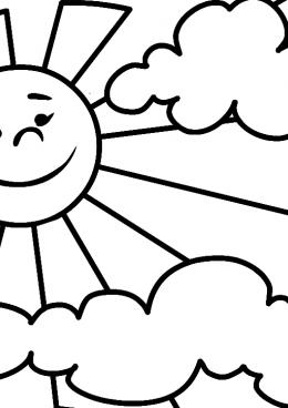 картинки раскраски солнышко улыбается