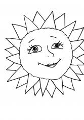 Раскраска Доброе солнышко