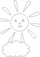 Раскраска Прекрасное солнце