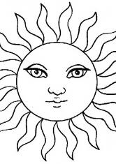 Раскраска Солнечные лучи