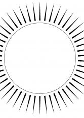 Раскраска Нежное солнце