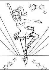 Раскраска Танцовщица