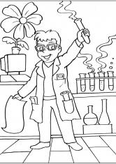 Раскраска Учёный