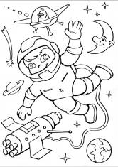 Раскраска Космонавт