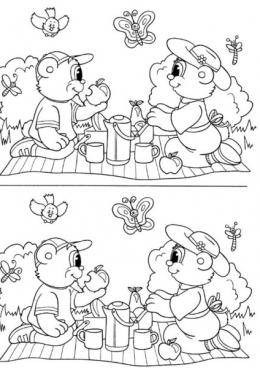 Найди отличия для детей 5 лет картинки распечатать 19