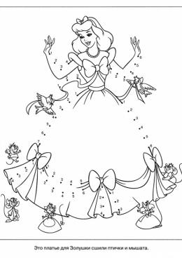 раскраска принцесса по цифрам скачать и распечатать