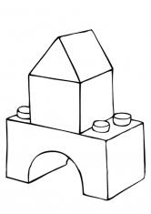 Раскраска Дом из конструктора