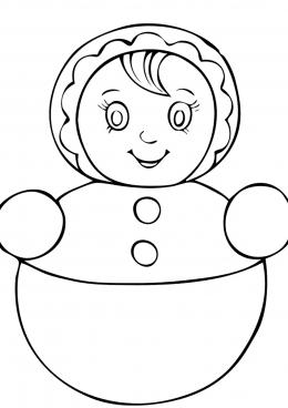 Неваляшка. раскраска для малышей