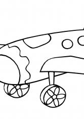 Раскраска Игрушечный самолёт