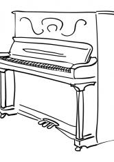 Рояль раскраски