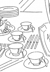 Раскраска Чайный набор