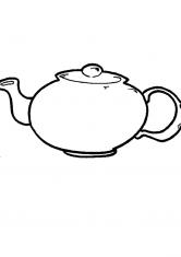 Раскраска чашка с блюдцем