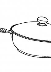 Раскраска Кастрюля с длинной ручкой