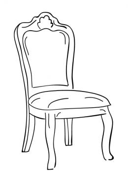 Раскраска на стуле