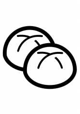 Раскраска Две булочки