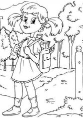 Девочка с портфелем рисунок 7