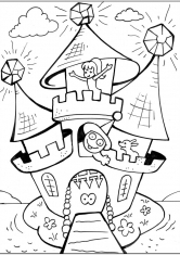 Картинки раскраски замок принцессы / picpool.ru