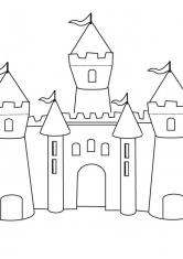 раскраски крепости замки башни дома замки крепости
