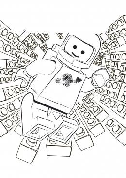 Раскраска лего человечек