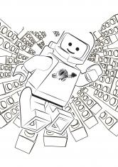 Раскраска Человечек Лего