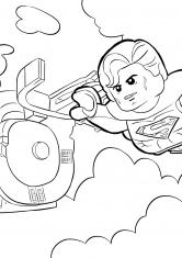 Раскраска Супермен