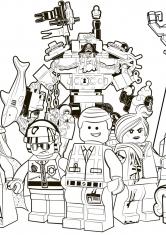 Раскраска Герои города Бриксбург