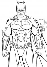 Раскраска Сильный Бэтмен