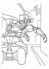 Раскраска Атака Бэтмена