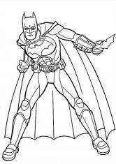 Раскраска Бетмен и его оружие