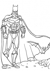 Раскраска Бэтмен в тени