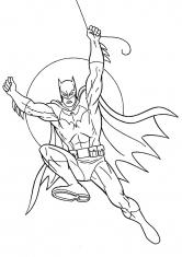 Раскраска Нападение Бэтмена