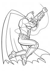 Раскраска Прыжок Бэтмена